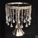 METAL CRYSTAL DROP CAKE STAND